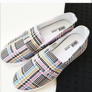 🆕️NWOT. ASOS Dodger Herringbone Slip On Sneaker!